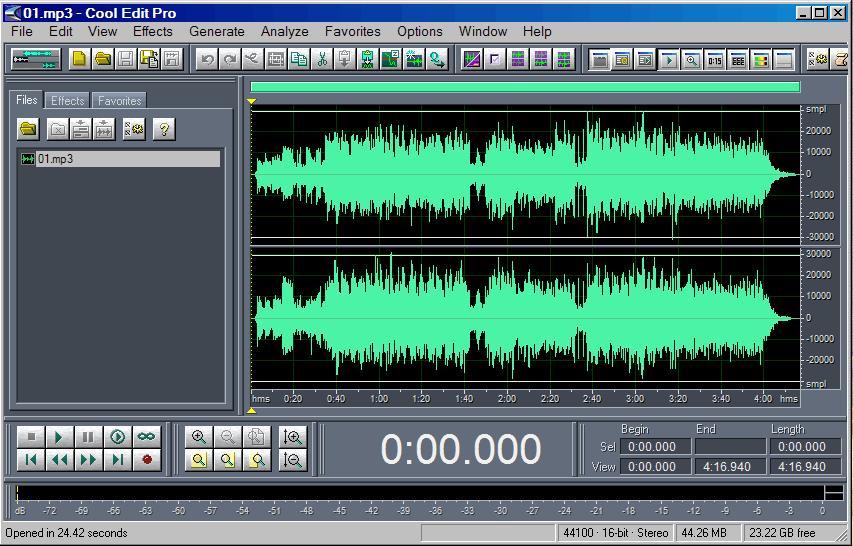 CoolEdit(音频处理软件)官方正式版 v2.1.3097.0 - 截图1