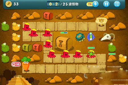 保卫萝卜沙漠10金萝卜布阵图详解3