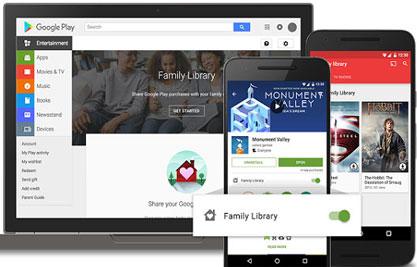 谷歌新推Family Library家庭共享服务