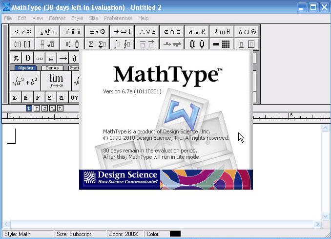 MathType官方版 v2014.7.28.0 - 截图1