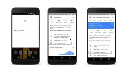 谷歌搜索新功能Get:添加在线点餐定饭馆
