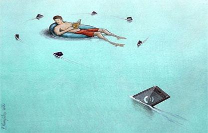 波兰艺术家用画讽刺了Pokemon Go的流行现象4