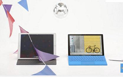 微软新广告讥讽苹果:iPad Pro配个智能键盘就叫电脑了?
