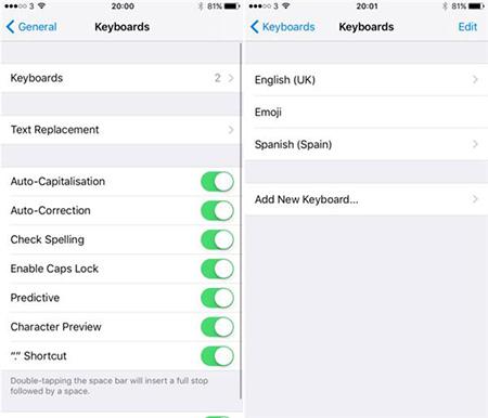 iOS10不切换键盘输入多种语言方法2