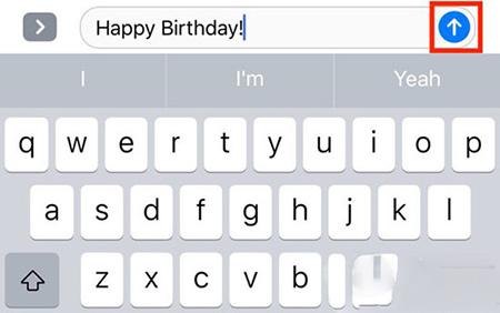 iOS10短信应用发送动画教程2