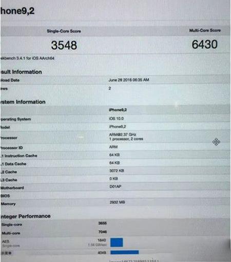 iPhone7性能参数介绍