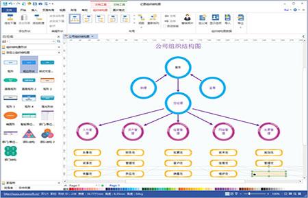 亿图组织结构图官方版 v8.0 - 截图1