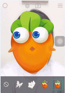 faceu保卫萝卜主题贴纸使用教程1